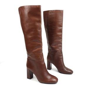 TORY BURCH Devon leather tall knee high boot